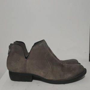 Born Gray Suede Leather Ankle Boots Size 7